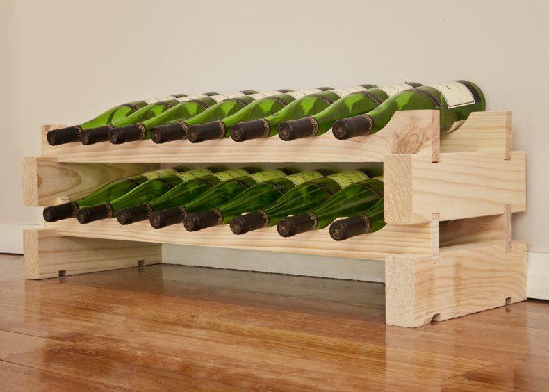 Modularack Wine Rack - 8 Bottle x 2 Rows-0