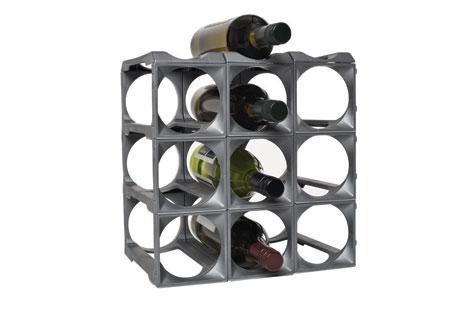 Stakrax Wine Racks 12 Bottle Kit - Silver-0
