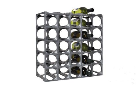 Stakrax Wine Racks 30 Bottle Kit - Silver-0