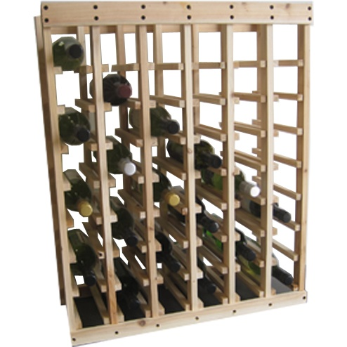 48 Bottle Pine Rack (Stackable)-0