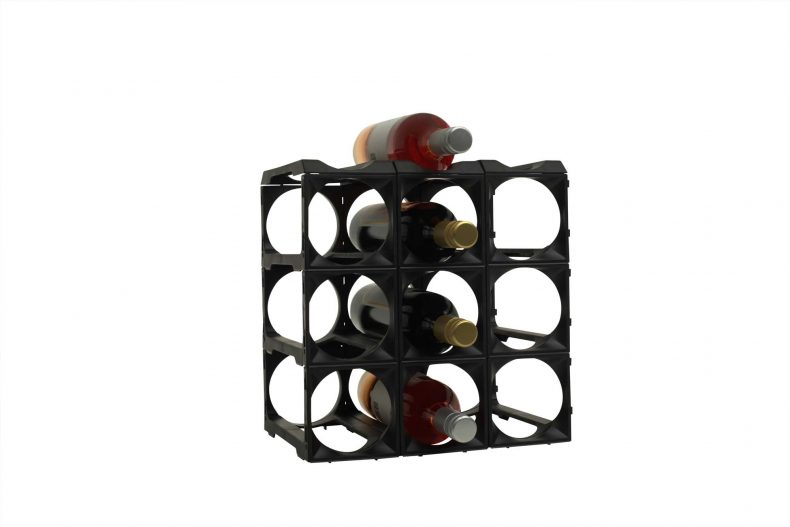 Stakrax Wine Racks 12 Bottle Kit - Black-921